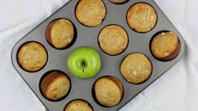 Image of Cream Cheese and Green Apple Muffins - Cream Cheese and Green Apple Muffins Recipe - Kultural Kreations