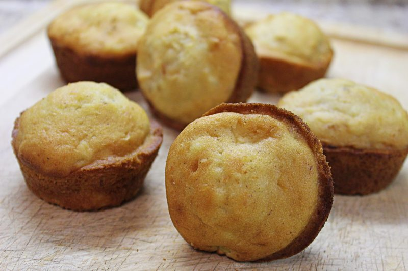 Image of Cream cheese and Green Apple Muffins - Muffin recipe - Kultural Kreations