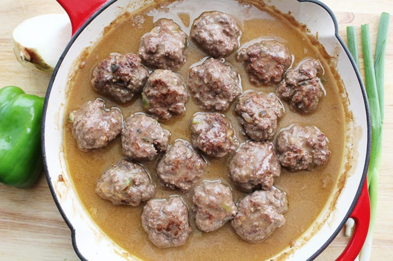 Image of Beef Meatballs In Mushroom Gravy - Beef meatball recipe - Kultural Kreations