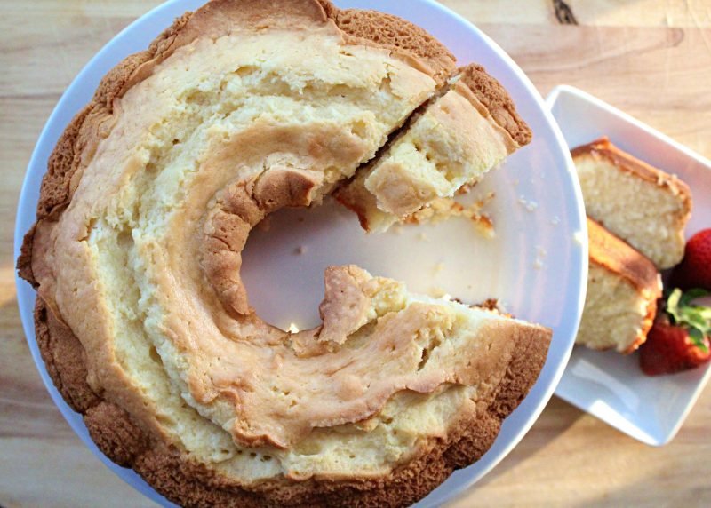 Image of Sour Cream Pound Cake - Easy sour cream pound cake recipe - Kultural Kreations