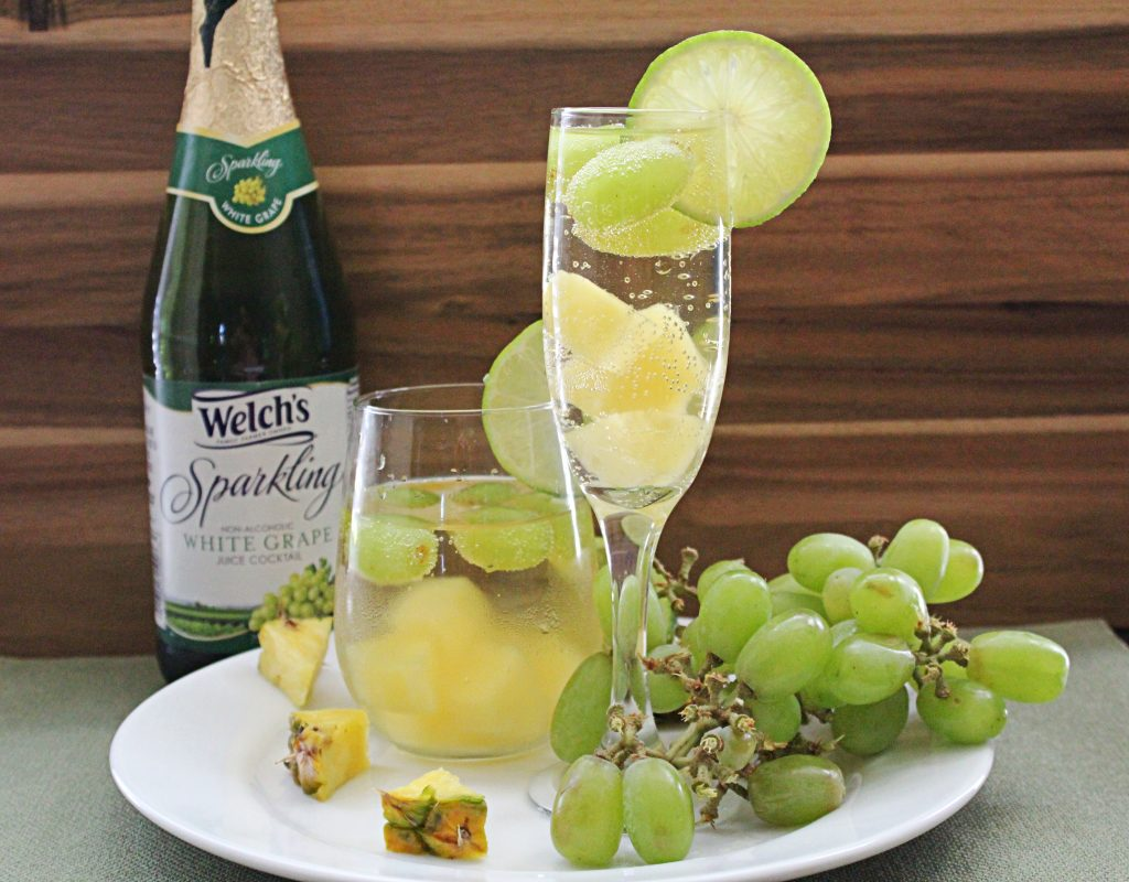 Image of Sparkling White Grape and Pineapple Spritzer - Kultural Kreations