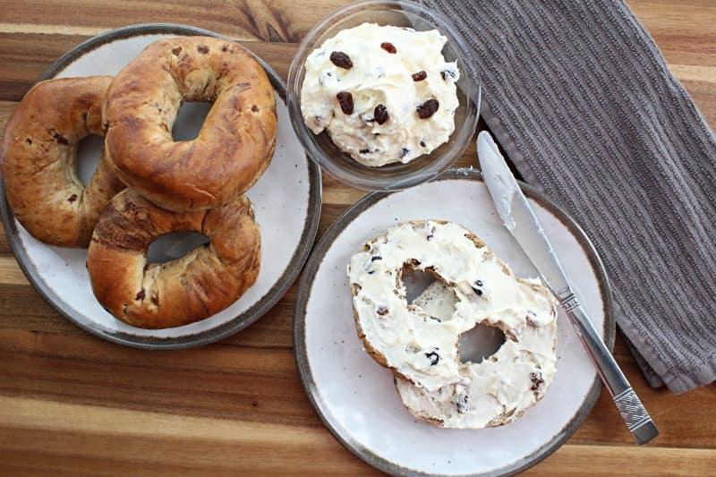 Image of Raisin and Cream Cheese Bagel Spread/Dip - bagel spread recipe - Kultural Kreations