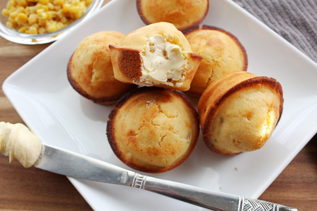 Image of Homemade Cornbread with Corn Tidbits - Cornbread muffins - Kultural Kreations