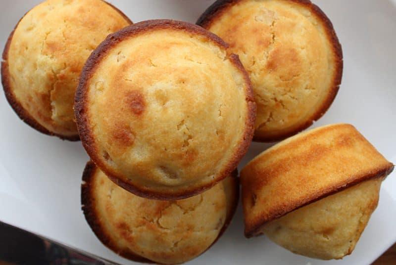 Homemade Cornbread Muffins with Corn Tidbits