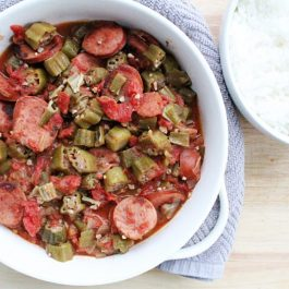 Image of Okra and Tomatoes with Sausage - Okra and sausage recipe - Kultural Kreations