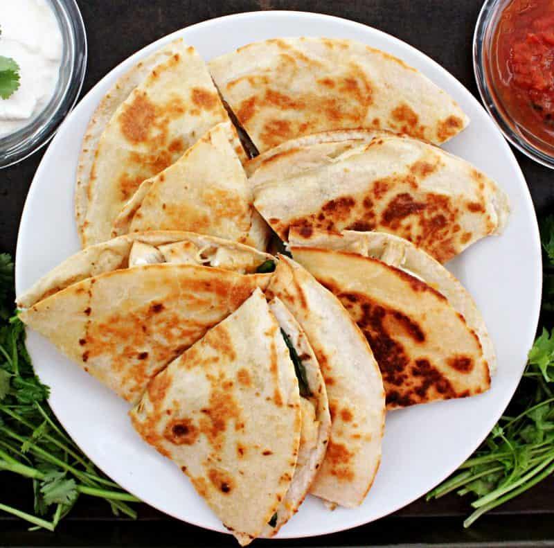 Image of Chicken Fajita Quesadillas - Chicken quesadilla recipe - Kultural Kreations