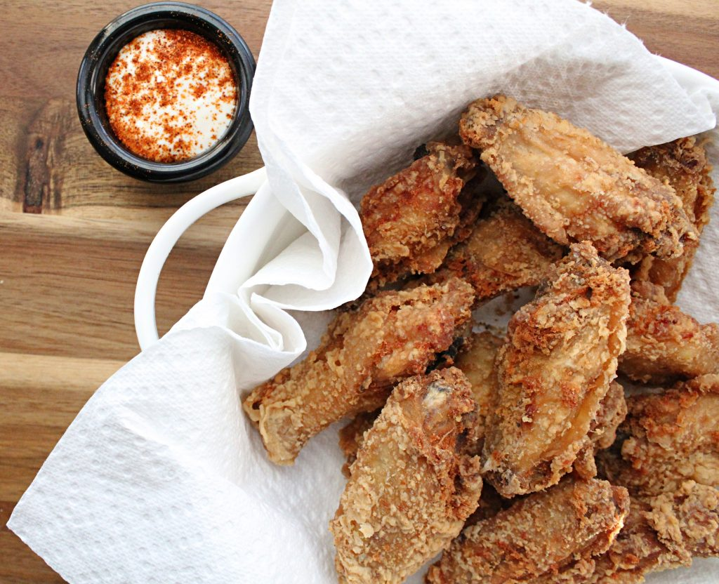 Dutch Oven Fried Chicken Wings