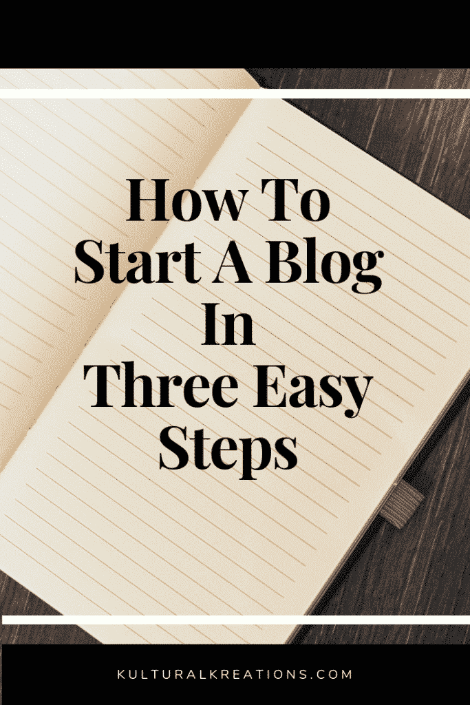 How to start a blog in three easy steps
