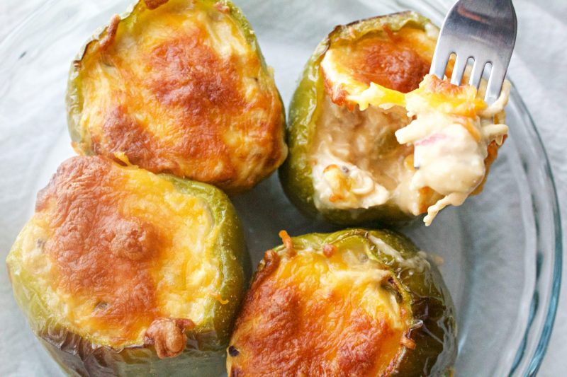 Image of Creamy Chicken Stuffed Bell Peppers - Chicken Stuffed Bell Peppers - Kultural Kreations