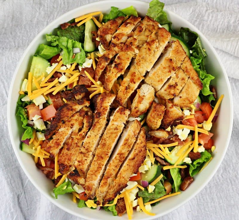 Image of Chicken Cobb Salad - Chicken Cobb Salad Recipe - Kultural Kreations