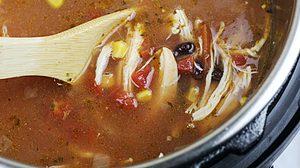 Image of Crockpot Chicken Tortilla Soup - Crockpot Chicken Tortilla Soup - Kultural Kreations