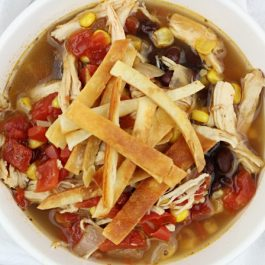 Image of Crockpot Chicken Tortilla Soup - Crockpot Chicken Tortilla Soup - Kultural Kreations