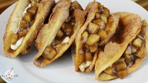 Image of Apple Pie Cheesecake Tacos - Apple Pie Cheesecake Tacos recipe - Kultural Kreations